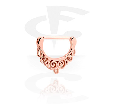 Nipple Piercings, Nipple Clicker, Rosegold Plated Surgical Steel 316L