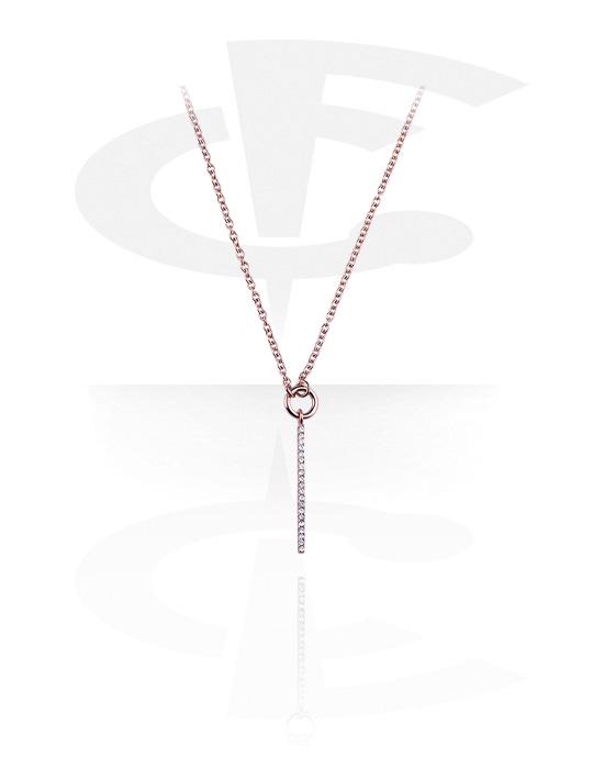 Ogrlice, Necklace, Kirurški čelik pozlaćen ružičastim zlatom 316L