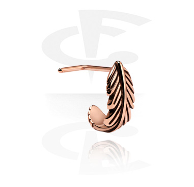 Kolczyki do nosa, Curved Nose Stud, Rose Gold Plated Steel