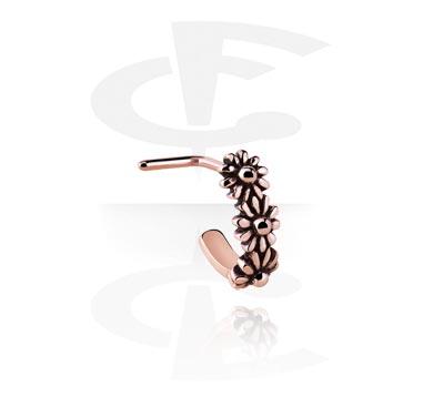 Piercing al Naso, Chiodino-naso curvato, Acciaio chirurgico 316L, Oro rosato