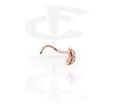 Nose Jewellery & Septums, Nose Stud, Rosegold-Plated Steel