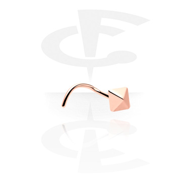 Nose Jewellery & Septums, Nose Stud, Rosegold Plated Steel