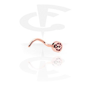 Nose Jewelry & Septums, Nose Stud, Rosegold-Plated Steel
