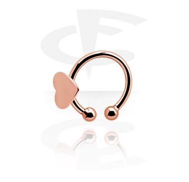 Fake Piercings, Fake Nose Ring, Rosegold-Plated Steel