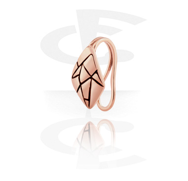 Fake Piercings, Nose Cuff, Rosegold Plated Surgical Steel 316L
