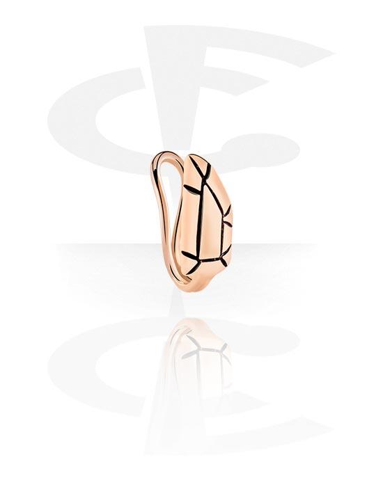 Piercing fake, Nose cuff, Acciaio chirurgico 316L placcato in oro rosa