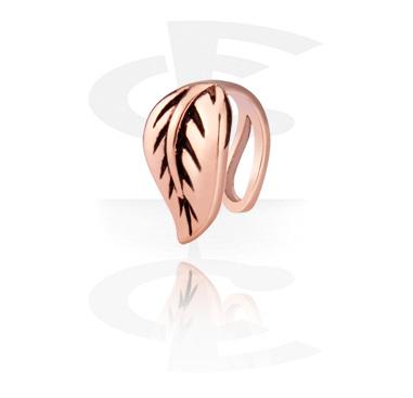 Fake Piercings, Piercing falso para la nariz, Acero quirúrgico 316L chapado en oro rosa