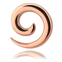 Alati za proširivanje (stretching), Spiral, Rose Gold Plated Steel