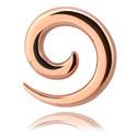 Dehnungszubehör, Spirale, Rosé-Vergoldeter Stahl
