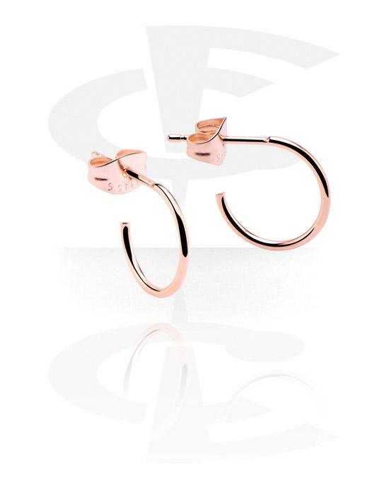 Kolczyki, Ear Studs, Stal chirurgiczna powlekana różowym złotem 316L
