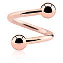Spirali, Spirale, Acciaio chirurgico 316L placcato in oro rosa