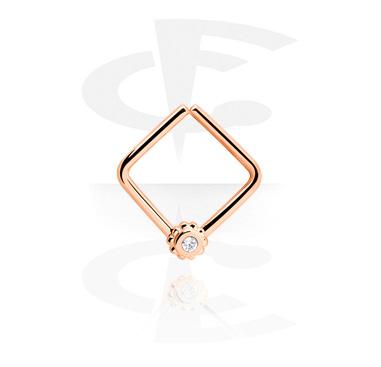 Кольцо для пирсинга в форме квадрата