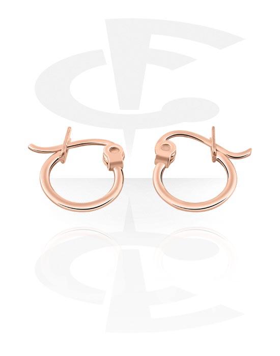 Korvakorut, Earrings, Ruusukultapinnoitteinen kirurginteräs 316L