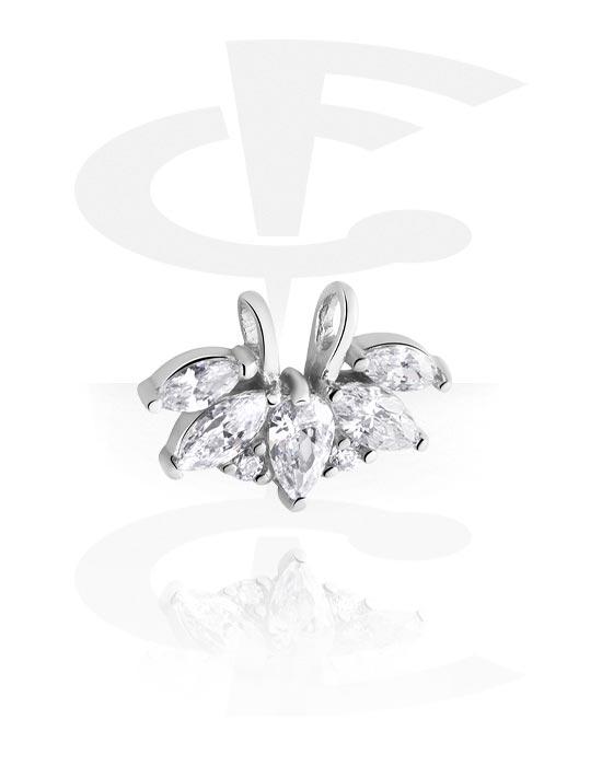 Kuglice, šipkice i još mnogo toga, Sliding Jeweled Charm for Hinged Segment Ring, Kirurški čelik 316L