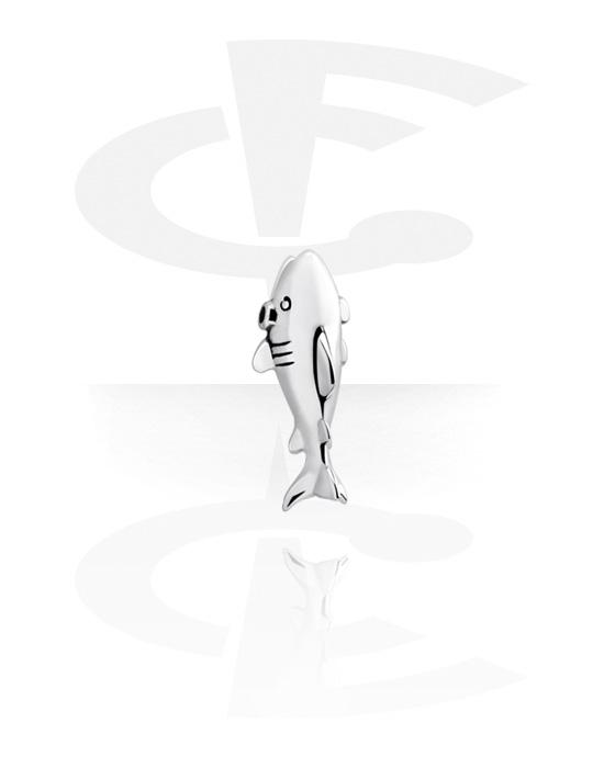 Kuličky, kolíčky a další, Attachment for Ball Closure Rings s shark design, Chirurgická ocel 316L