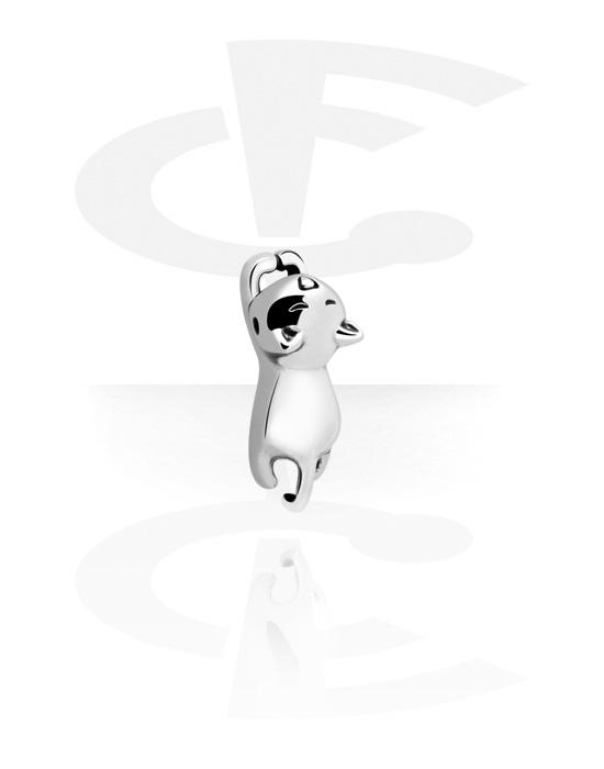 Palline, barrette e altro, Accessorio per ball closure ring con gatto, Acciaio chirurgico 316L