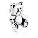 Kulki i inne zakończenia, Attachment for Ball Closure Rings z cute teddy bear design, Surgical Steel 316L
