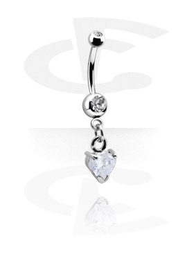 Small Double Jeweled Banana with Charm
