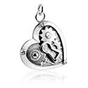 Pallot ja koristeet, Charm kanssa Heart Design, Surgical Steel 316L
