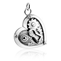 Balls & Replacement Ends, Charm with Heart Design, Surgical Steel 316L