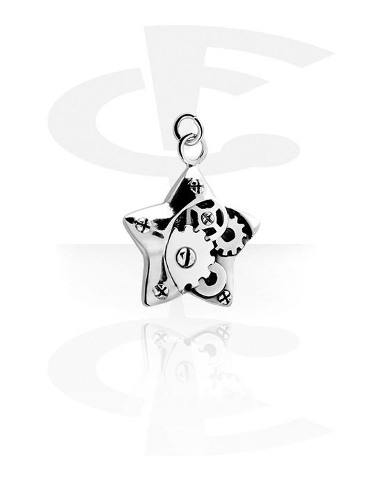 Kuličky, kolíčky a další, Charm s Steampunk Design, Chirurgická ocel 316L