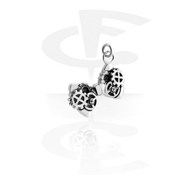 Balls & Replacement Ends, Charm with Steampunk Design, Surgical Steel 316L