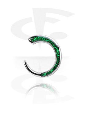Accessori per dilatar, Surgical Steel Cast Glitterline Claw, Chirurgico acciaio 316L