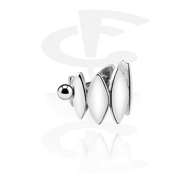 Helix / Tragus, Steel Cast Ear Shield, Acier chirurgical 316L