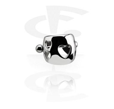 Helix / Tragus, Steel Cast Ear Shield, Surgical Steel 316L
