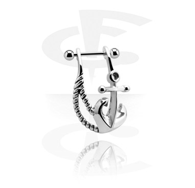 Helix / Tragus, Helix piercing with Anchor Design, Surgical Steel 316L