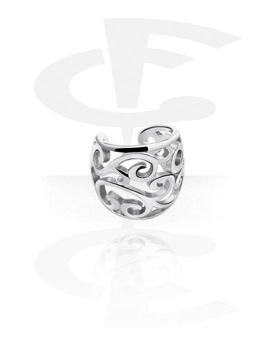 Imitacja biżuterii do piercingu, Ear cuff, Stal chirurgiczna 316L