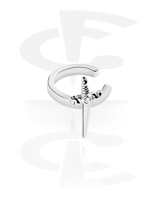 Lažni piercing nakit, Ear cuff, Kirurški čelik 316L