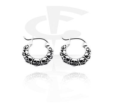 Earrings, Studs & Shields, Earrings with Skull Design, Surgical Steel 316L