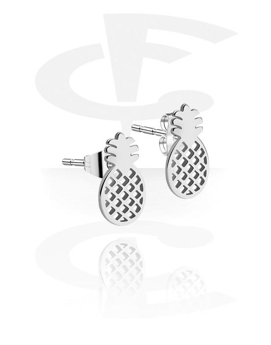 Náušnice, Ear Studs s Pineapple Design, Chirurgická ocel 316L