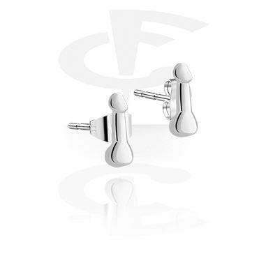 Boucles d'oreilles en acier fondu