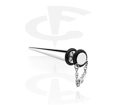 Faux Piercings, Faux expander avec pendentif, Acier chirurgical 316L