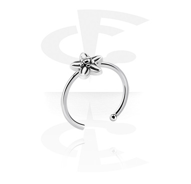 Nose Jewelry & Septums, Nose Ring with flower attachment, Surgical Steel 316L