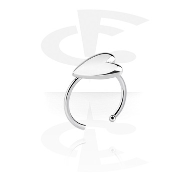Nose Jewelry & Septums, Nose Ring with Heart Design, Surgical Steel 316L
