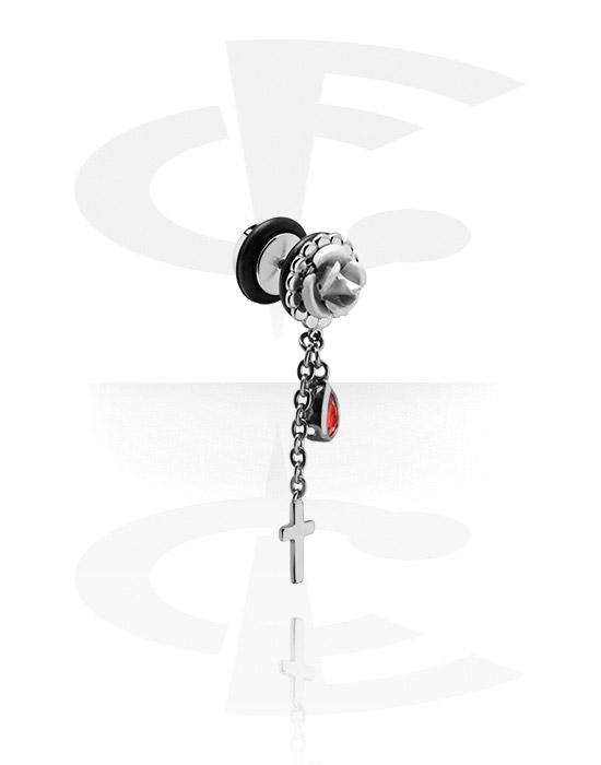 Imitacja biżuterii do piercingu, Fake Plug with Charm