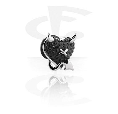 Imitacja biżuterii do piercingu, Fake Plug, Surgical Steel 316L