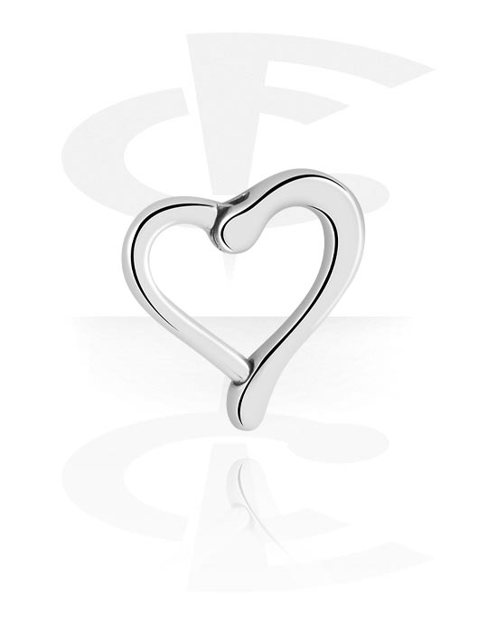 Renkaat, Heart-shaped Hinged Clicker, Kirurginteräs 316L