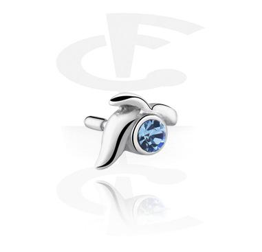 Boules et Accessoires, Jeweled Attachment pour Bioflex Internal Labrets, Acier chirurgical 316L