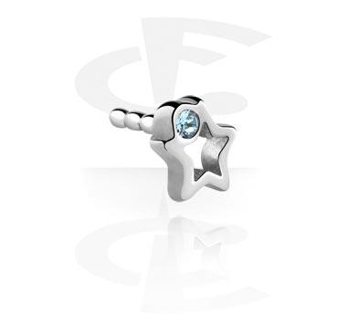 Kulki i inne zakończenia, Jeweled Attachment for Bioflex Internal Labrets, Surgical Steel 316L