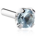 Pallot ja koristeet, Jeweled Attachment for Bioflex Internal Labrets, Surgical Steel 316L