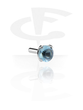 Balls & Replacement Ends, Jeweled Attachment for Bioflex Internal Labrets, Surgical Steel 316L
