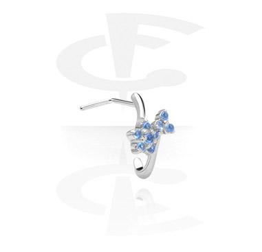 Böjd nässkruv med kristallstenar