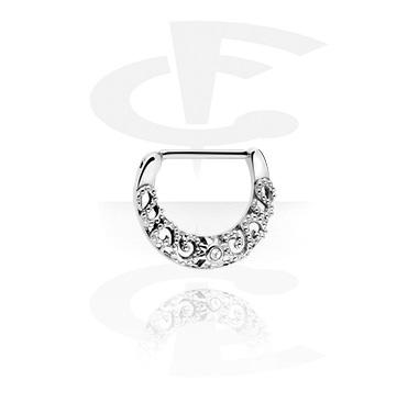 Nipple clicker med crystal stones