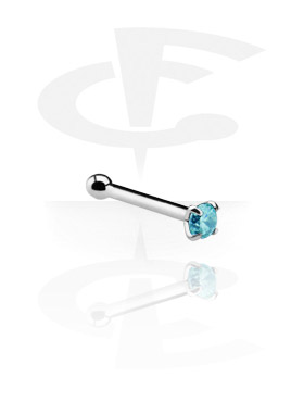 Nose Stud with Claw-Set Crystal