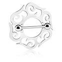 Biżuteria do piercingu sutków, Nipple Shield, Surgical Steel 316L