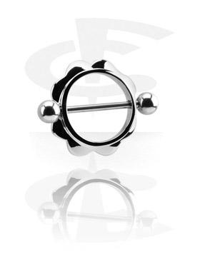Pezón Piercings, Piercing para el pezón, Acero quirúrgico 316L